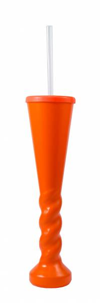 Yard Glass - Swirl Yard Glass 450ml Ref 458 - Orange