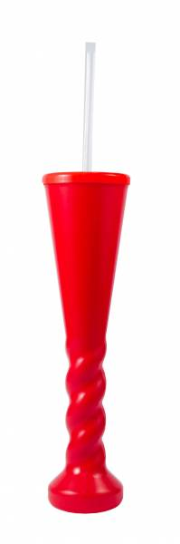 Yard Glass - Swirl Yard Glass 450ml Ref 458 - Red