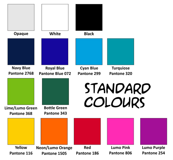 1. Colour Swatches Standard