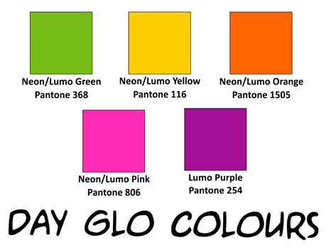 4. Colour Swatches Day Glo Colours